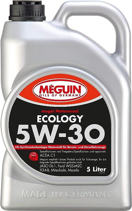Meguin 3187 Megol Motoröl Ecology Sae 5w 30 5 L Auto