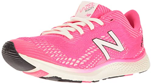 New Balance Women's Vazee Agility V2 Training Cross-Trainer Shoe, Alpha Pink /White