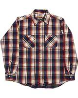 (カムコ) 長袖 ヘビーコットン ネルシャツ フランネル ブルー CAMCO FLANNEL SHIRTS 008