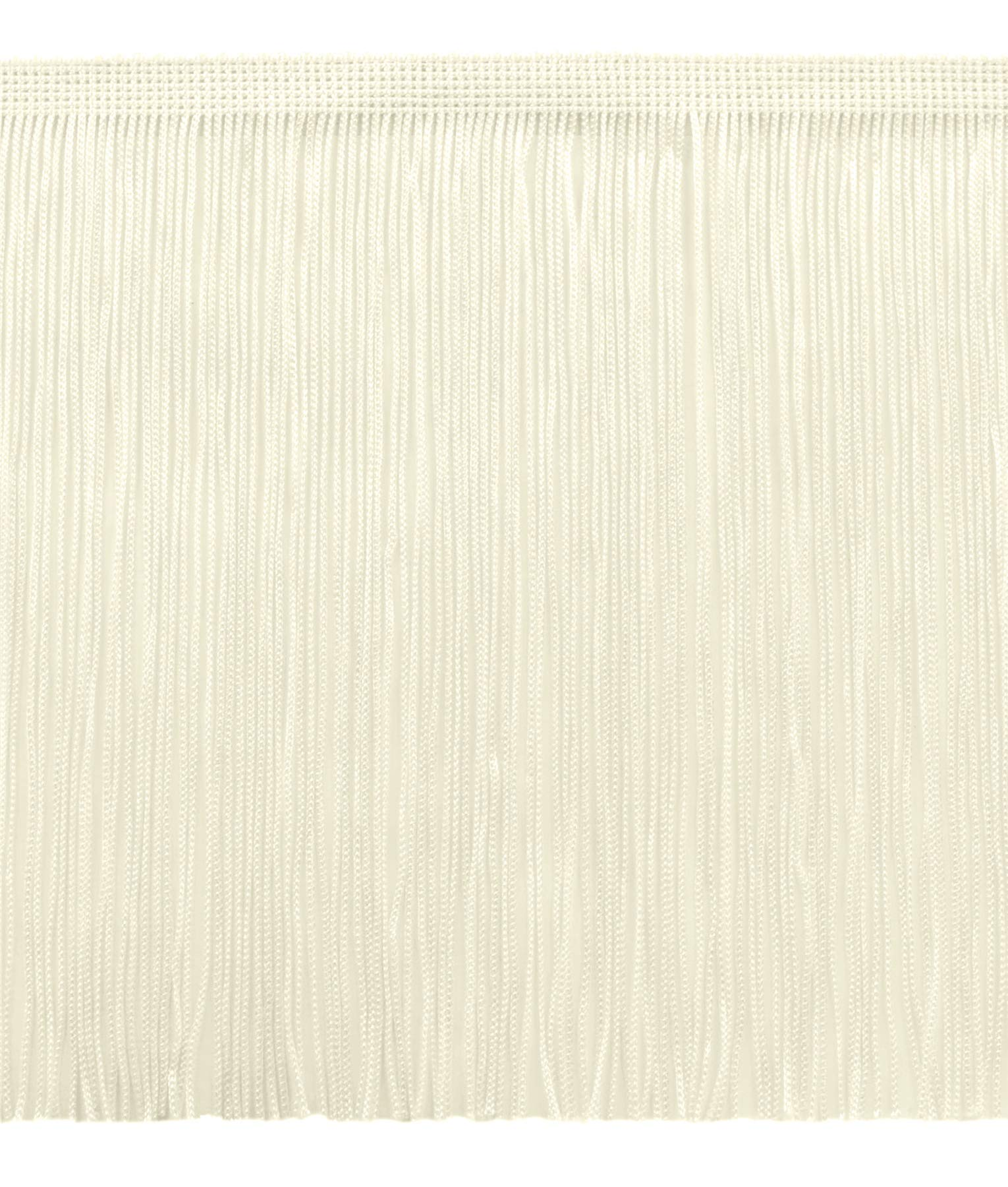 DÉCOPRO 11 Yard Value Pack of 8 Inch Chainette Fringe Trim, Style# CF08 Color: Ivory (Off White) - OW (32.5 Feet / 10M) by DÉCOPRO