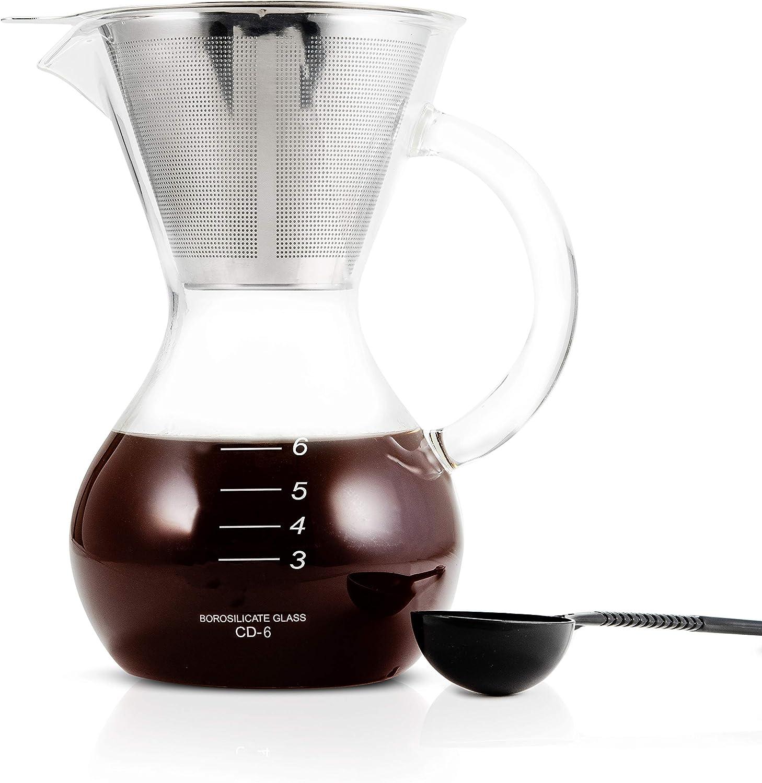 Yama Glass YAMCD6 YAMA Pour-Over Coffee Maker, 30oz