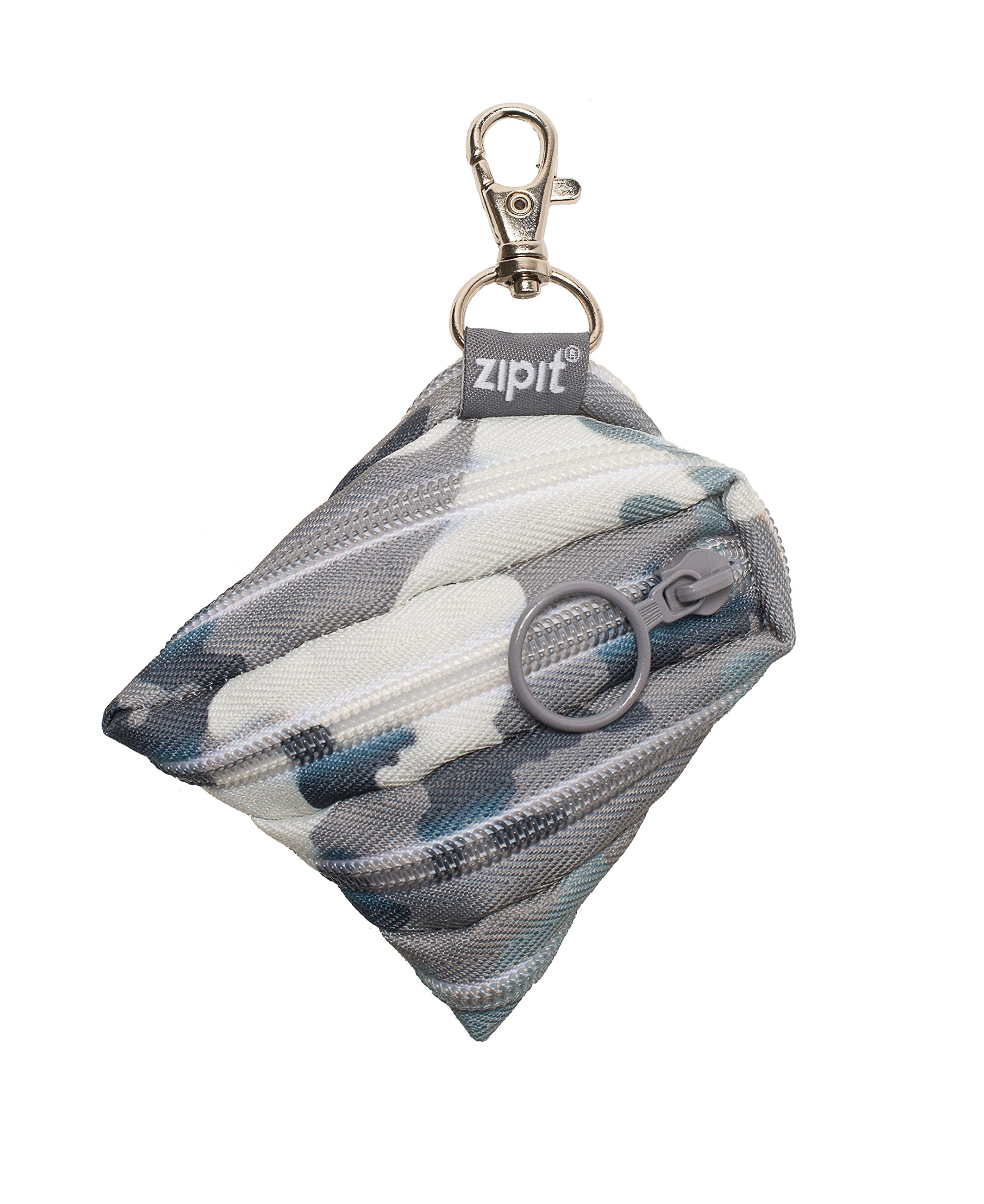 ZIPIT Camo Mini Pouch/Coin Purse, Grey Camo
