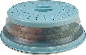 Handy Gourmet Teal Eco-Collapsible Splatter Shield-Keeps Microwave Clean