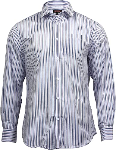 Rare and Dear Camisa de Manga Larga para Hombre, 100% algodón, diseño de Rayas Formales: Amazon.es: Ropa y accesorios