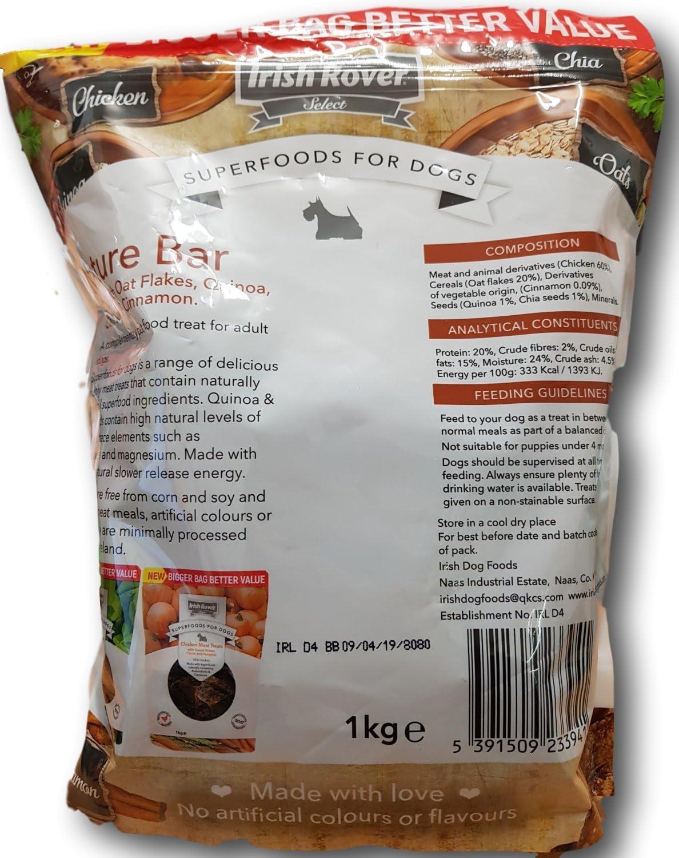 Superalimentos para perros Irish Rover con copos de avena, quinoa ...