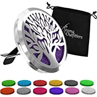 Aroma Outfitters Car Diffuser Vent Clip with 12 Colored Felt Pads. Improve Air Quality, Motion Sickness & Promote Calm…