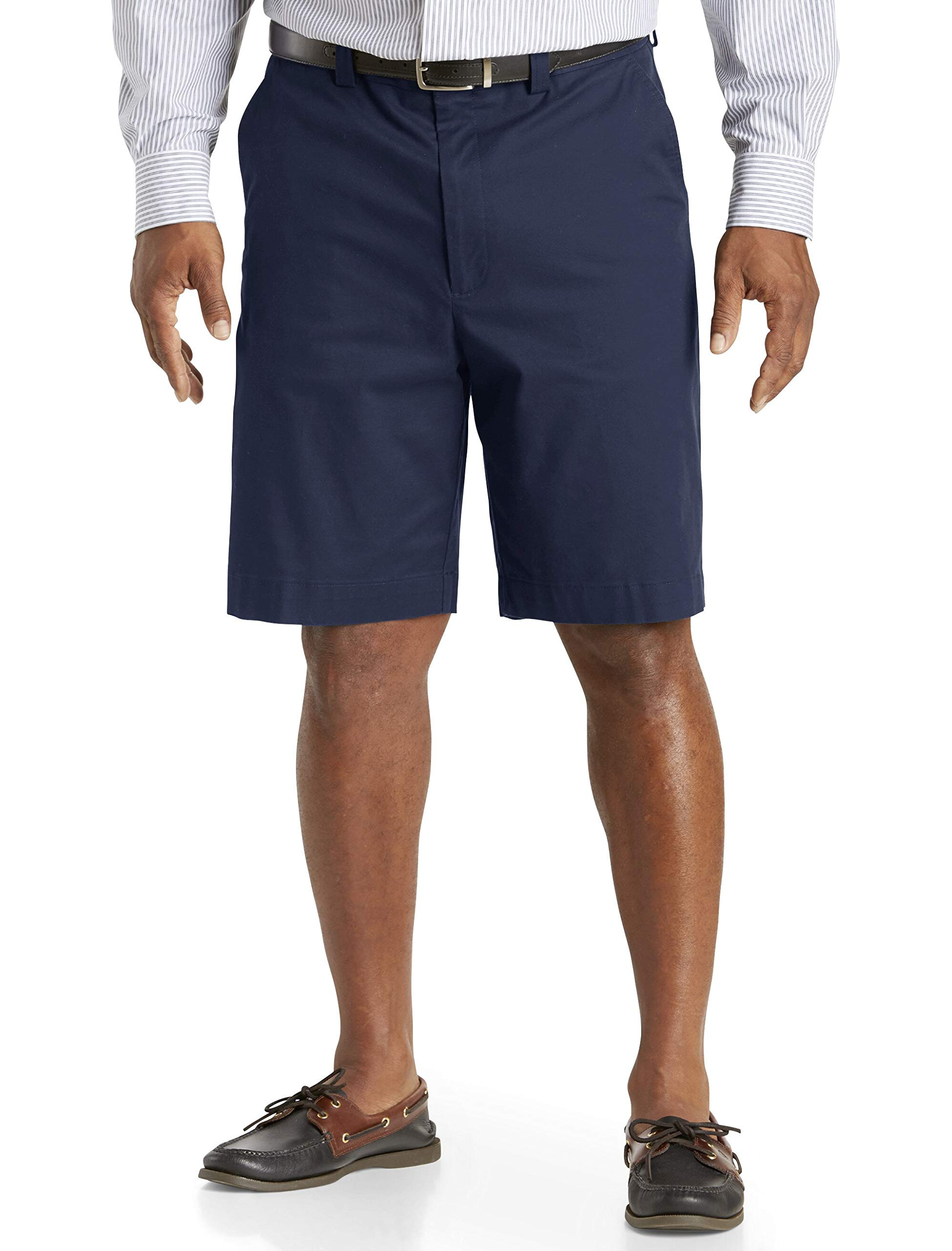 Oak Hill by DXL Big and Tall Comfort Stretch Chino Shorts, Peacoat Navy, 54