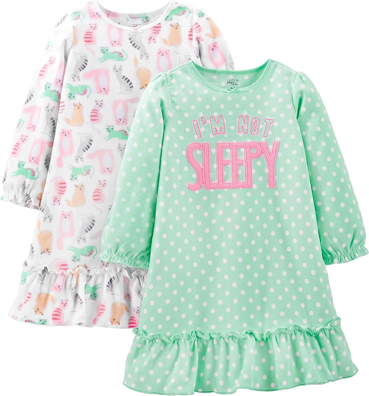 Pack de 2 Simple Joys by Carters 2-Pack Fleece Nightgowns Ni/ñas