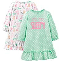 Simple Joys by Carter's 2-Pack Fleece Nightgowns Niñas, Pack de 2