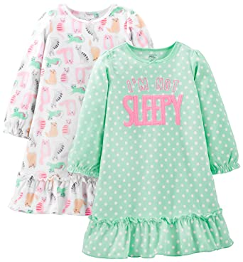 49ef55880 Amazon.com  Simple Joys by Carter s Little Kid Girls  2-Pack Fleece ...
