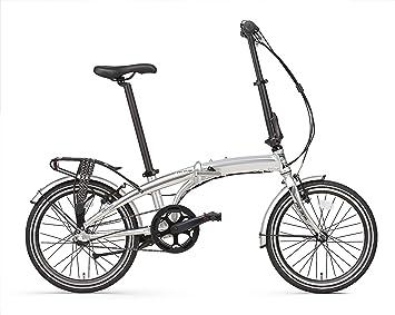 Bicicleta Plegable Popal Subway 20 Pulgadas Marco de Aluminio Cambio 3 Velocidades Plata