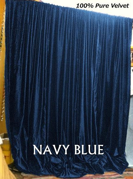Wonderful NAVY BLUE Thick Velvet Curtains   Absolute Blackout 52u0026quot;W By 84u0026quot; H  L,