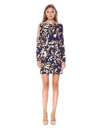 8fe81bdb98e3 Ali & Jay Women's Floral Romance Print Cold Shoulder Mini Dress, Navy  Vintage, ...