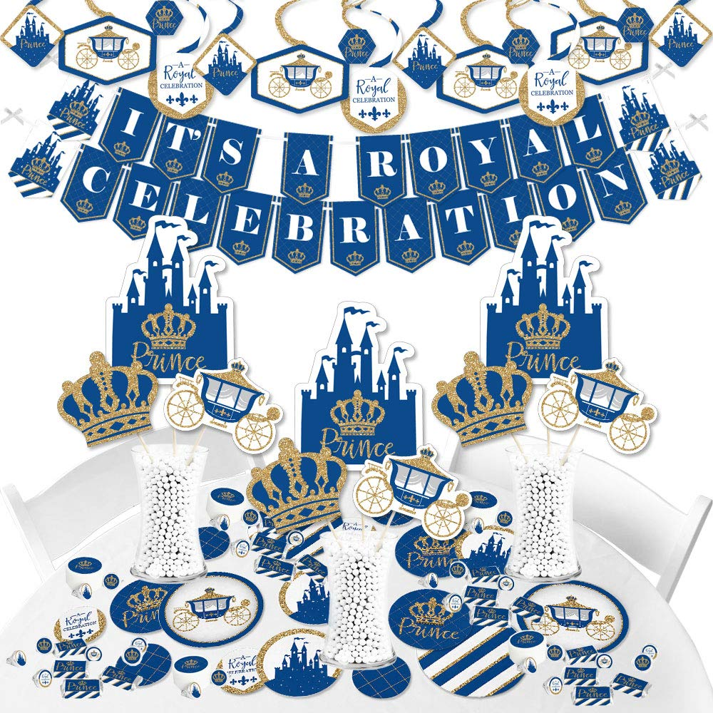 Big Dot of Happiness Royal Prince Charming - Baby Shower or Birthday Party Supplies - Banner Decoration Kit - Fundle Bundle by Big Dot of Happiness