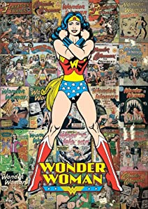 MightyPrint Wonder Woman – DC Comics Classic Collage Wall Art – Paperless Lasting Light catching décor
