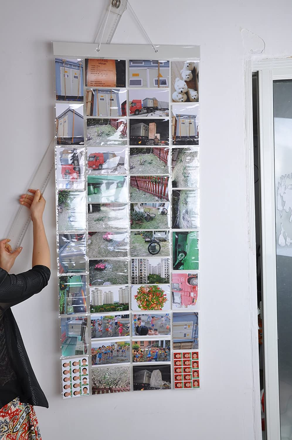 Amazon.com : Photo Album Picture Pockets Photo Hanging Display, 40 Pockets  with 80 Photo, Clear : Office Products