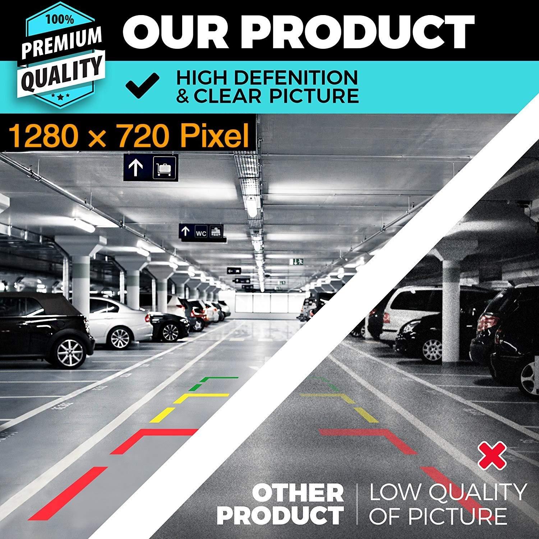 Cam/éra de recul 1280 x 720 p int/égr/ée dans la poign/ée de Coffre Cam/éra de recul pour VW Touran L//Tiguan L//Teramont//C-Trek Touran//Audi A4L Skoda Superb 3 V Limousine Break 2016-2018