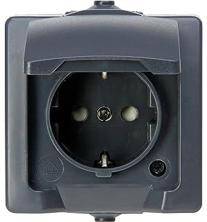 Kopp 107815006 Nautic de 1 toma de corriente con protección de contacto, con Tapa y