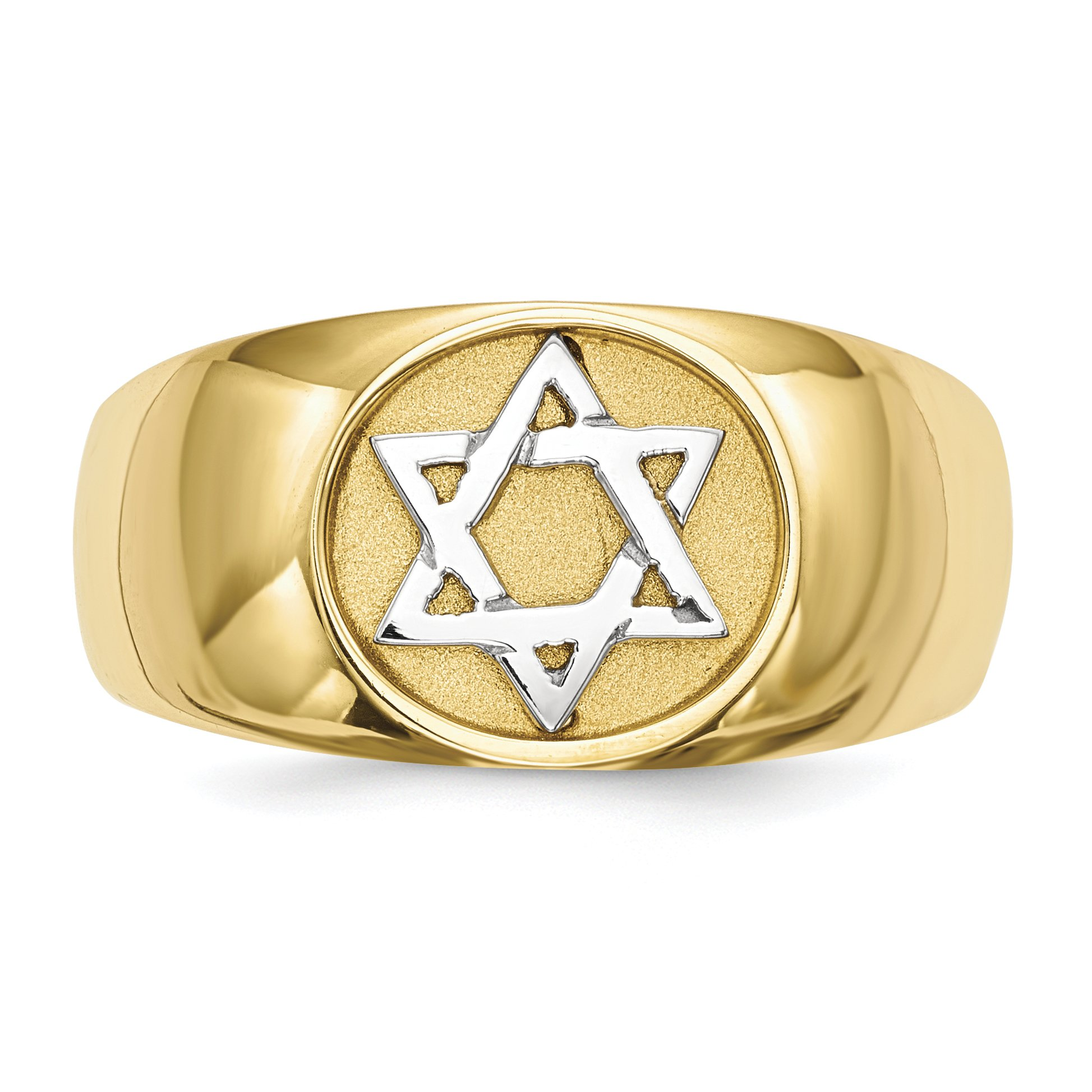 ICE CARATS 14k Yellow Gold Two Tone Jewish Jewelry Star Of David Band Ring Size 7.00 Religious Fine Jewelry Gift Set For Women Heart by ICE CARATS (Image #3)