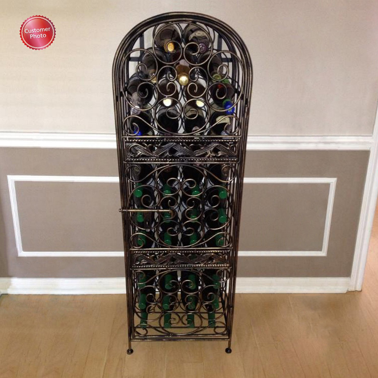 Wine Enthusiast Renaissance Wrought Iron Wine Jail by Wine Enthusiast (Image #4)