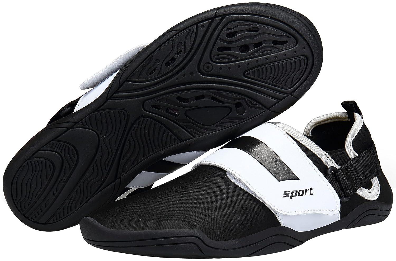 DENGBOSN Zapatillas de Agua Calzado de Natación Playa Barefoot Agua Surf Snorkel Mujer Hombre Negro Azul 36-46