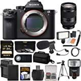 Sony Alpha A7R II 4K Wi-Fi Digital Camera Body with FE 24-240mm Lens + 64GB Card + Battery + Charger + Case + Flash + LED + Tripod + Kit