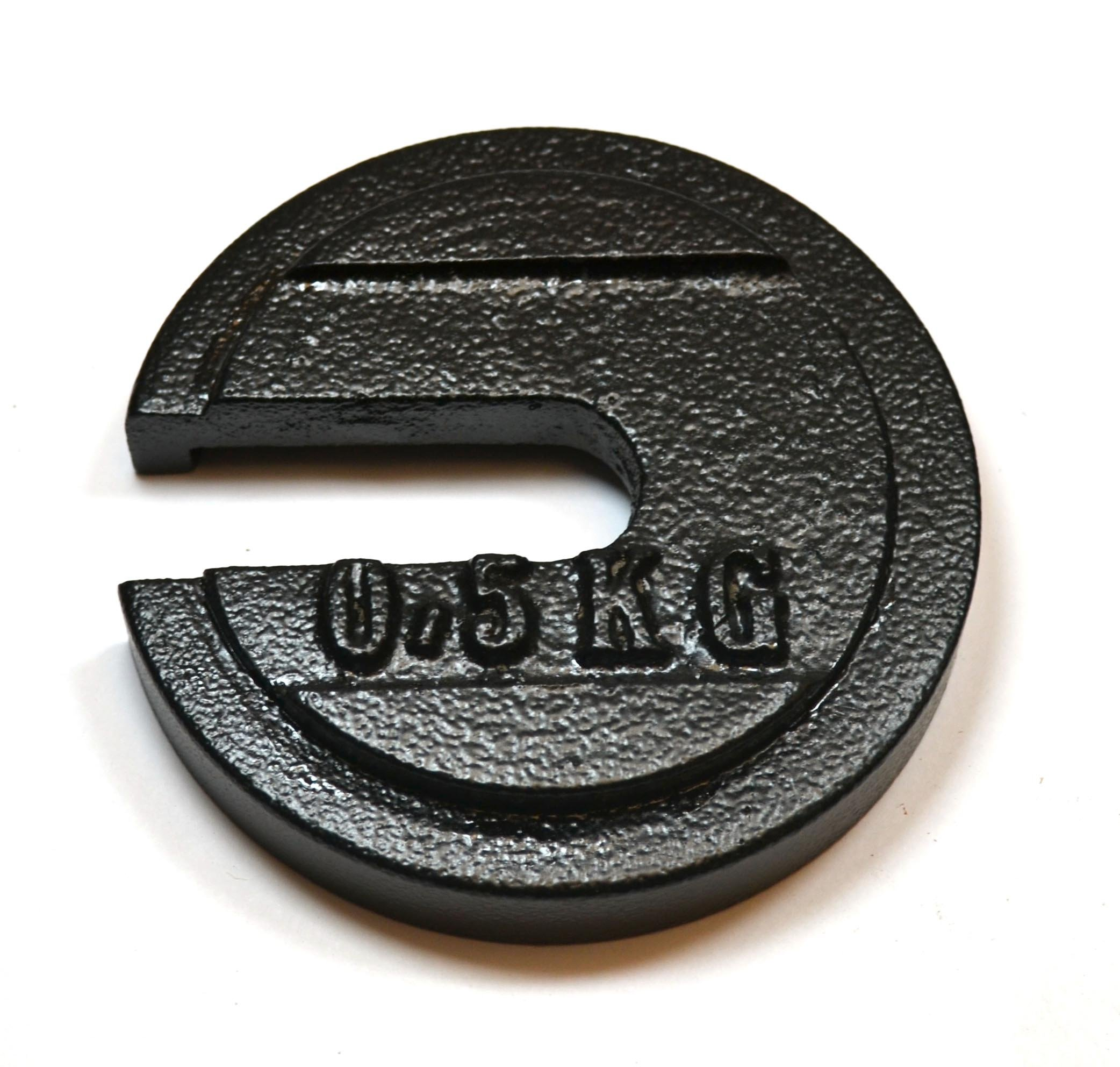 Eisco Labs Cast Iron Slotted Weight - 0.5 Kg Painted Black (1.10 Pounds) by EISCO