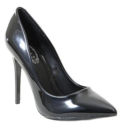 e7c302961b Amazon.com   Black Patent Classic Pointy Toe Women's Pumps Shoes   Pumps