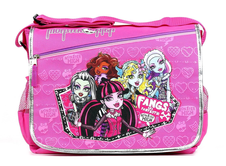 55f5b5085314 Amazon.com  GoodyPlus Monster High School Shoulder Messenger Bag (BLACK)   Sports   Outdoors