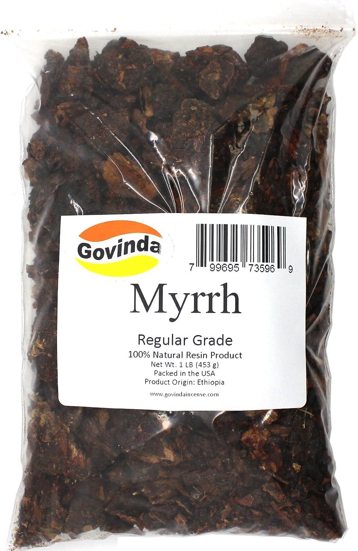 Govinda - Natural Myrrh Resin Incense 1 lb - Regular Grade