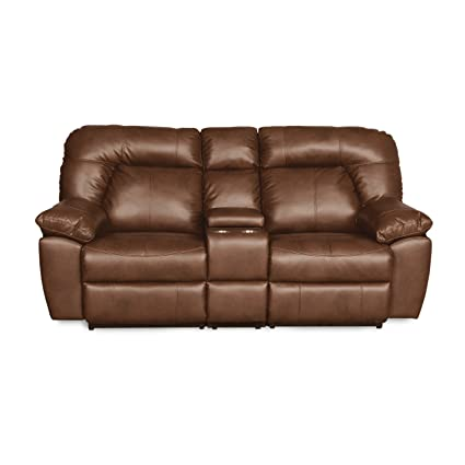 RevoluXion Decatur Series 82u0026quot; L Two Seat Reclining Sofa With Center  Storage Two Cup