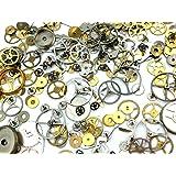 本物の時計部品・歯車パーツ 3g ヴィンテージ 時計 パーツ 雑貨 レジン 封入 アクセサリーパーツ ハンドメイド
