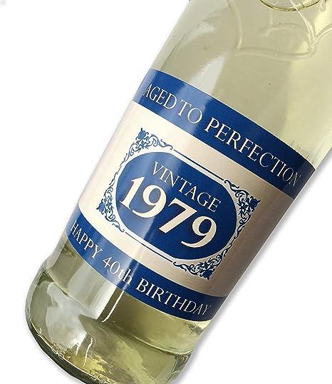 Purpleproducts 1979 Vintage Azul Feliz 40 cumpleaños 2019 ...
