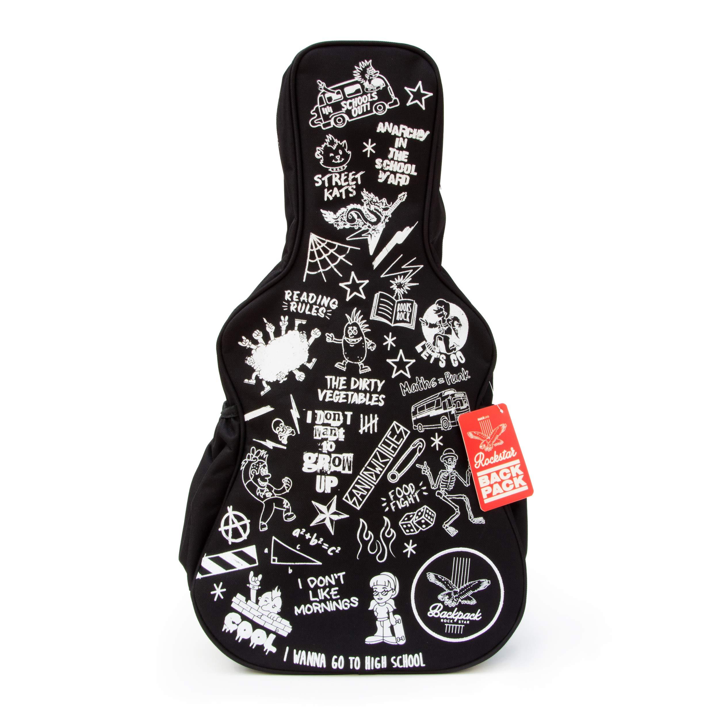 SUCK UK Kids Guitar Case Girls Bag   Mini Backpack for Boys & Girls, Black/White, One Size by Suck UK