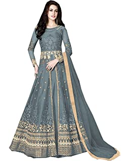 65ea1d79ad Delisa Indian/Pakistani Bollywood Party Wear Long Anarkali Gown for Womens  Razzi 1002