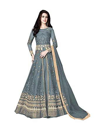 2172974c10 Amazon.com: Delisa Indian/Pakistani Bollywood Party Wear Long Anarkali Gown  for Womens Razzi 1002: Clothing
