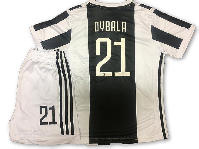 Conjunto Equipacion Camiseta Jersey Futbol Juventus Paulo Dybala 21 Replica Autorizado Talla de Niño (2 años): Amazon.es: Deportes y aire libre