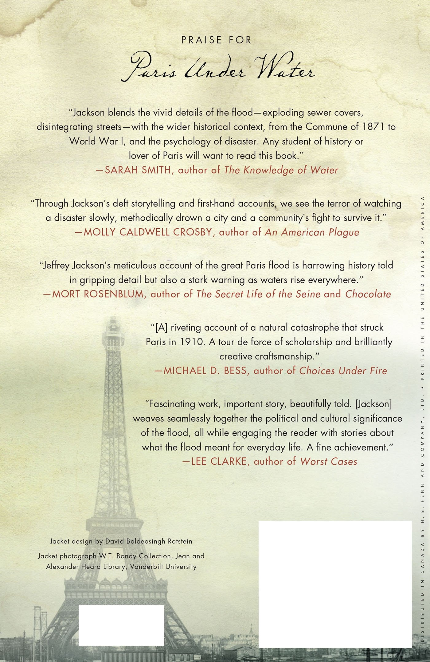 Paris Under Water: How The City Of Light Survived The Great Flood Of 1910:  Jeffrey H Jackson: 9780230617063: Amazon: Books