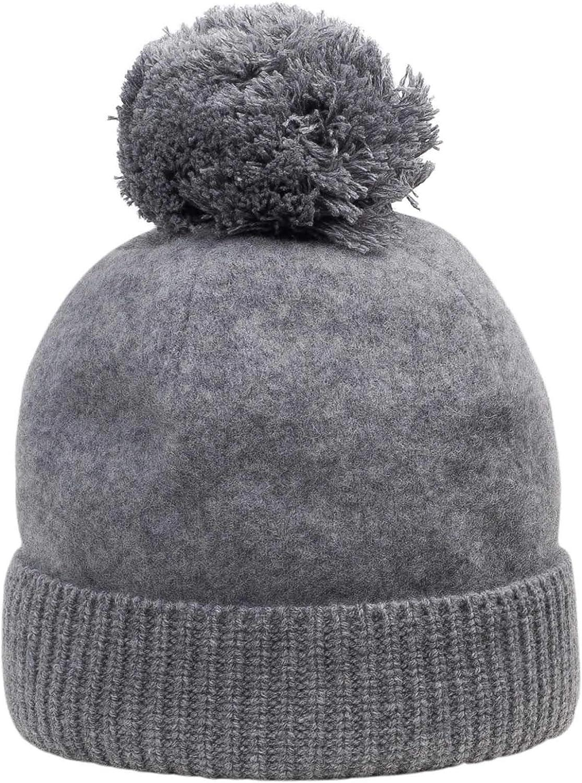 M/ütze mit Warmer Fleece F/ütterung Lambswool Beanie Unisex M/ütze aus 100/% Lammwolle warme Winter M/ütze mit Bommel aus Wolle Beanie for Men /& Women GIESSWEIN Wollm/ütze Sonneneck