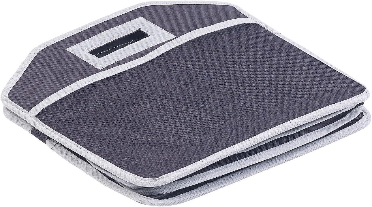 Lescars Auto-Kofferraum-Taschen 2er-Set 2in1-Kofferraum-Organizer mit 3 F/ächern /& K/ühltasche Kofferraumtasche mit K/ühlfach faltbar