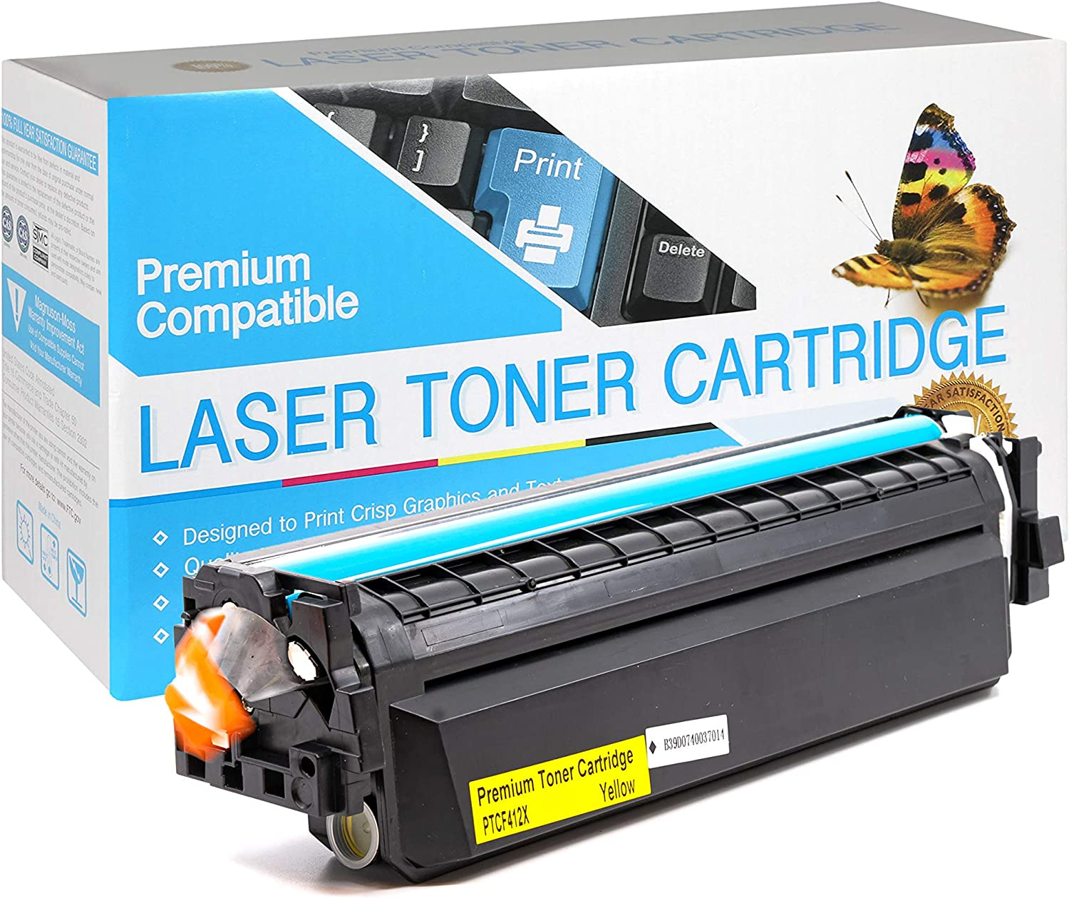CF412X SuppliesOutlet Compatible Toner Cartridge Replacement for HP 410X High Yield Yellow,1 Pack