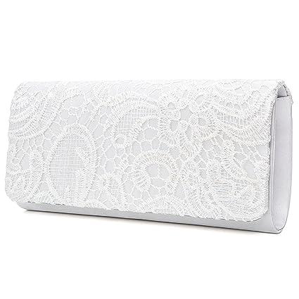 EULovelyPrice Borse Donna Borse Eleganti Borsette da Sera per Pochette  Cerimonia (Bianco)  Amazon.it  Sport e tempo libero 21fa3c562fc