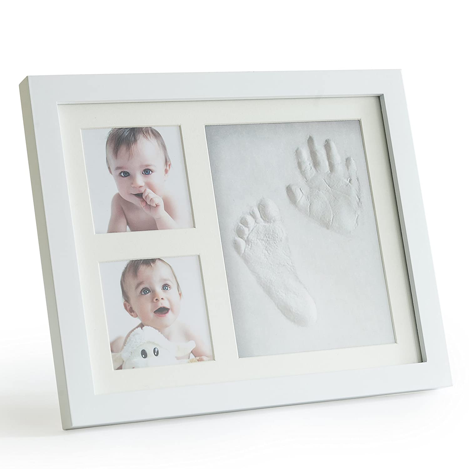 Amazon hand footprint makers baby products up raise premium clay baby footprint handprint picture frame kit safe and non jeuxipadfo Choice Image