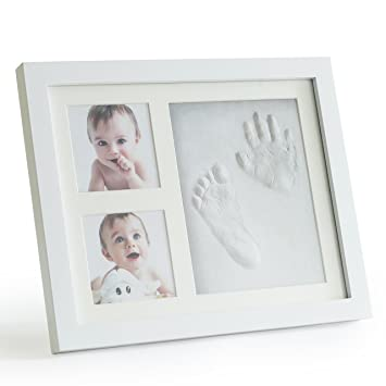 Amazon.com : Up & Raise Premium Clay Baby Footprint & Handprint ...