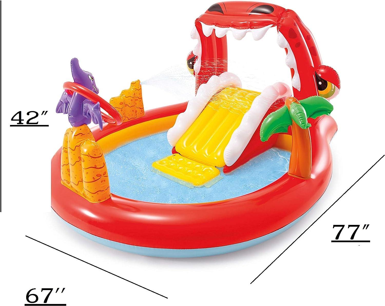 Methink Toy Happy Dino Outdoor Inflatable Kiddie Pool Play