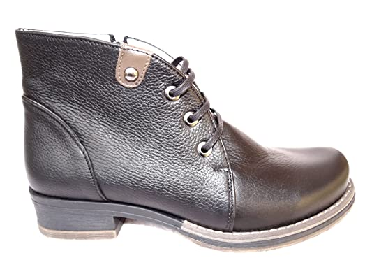 Ogswideshoes Gianna Black Leather Boots Extra WideC Width 3e Width