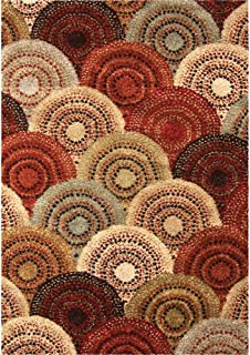 "product image for Orian Wild Weave Area Rug 1615 High Pile Multi Circles Rings 7' 10"" x 10' 10"" Rectangle"