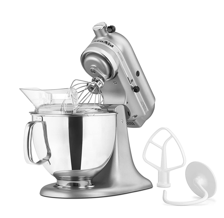 Amazon.com: KitchenAid KSM150PSSM Artisan Series 5-Quart Stand Mixer ...