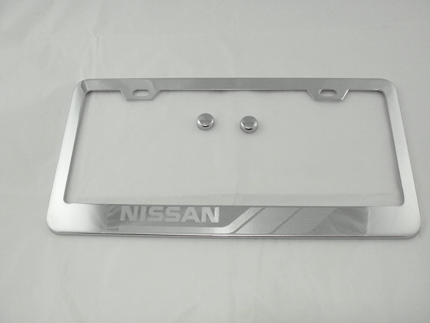 Nissan Altima Metal License Plate Frame Matte Black Finish