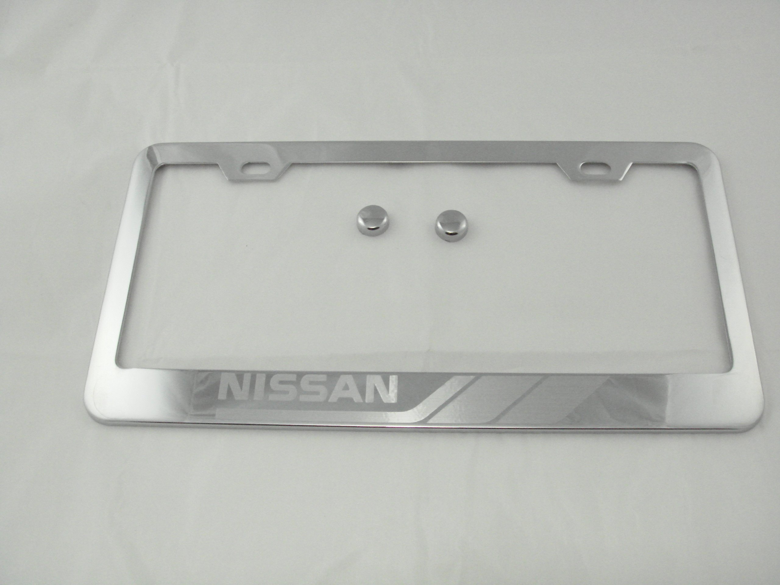 Tuesnut 2X Stainless Steel Black Carbon Fiber Vinyl License Plate Frame Covers Holder Screws Caps Rust Free for Nissan